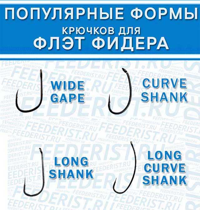 Крючки для флэт метода (фидер)